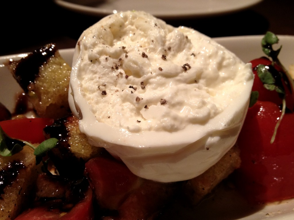 Heirloom Tomato Salad with Burrata Cheese at Blue Stove (© 2012 The Offalo)
