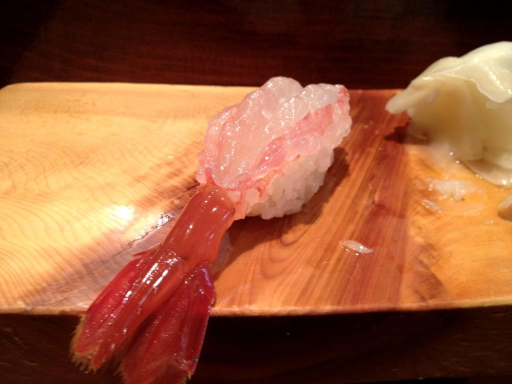 Amaebi (Live Sweet Shrimp) at Kiriko (© 2012 The Offalo)