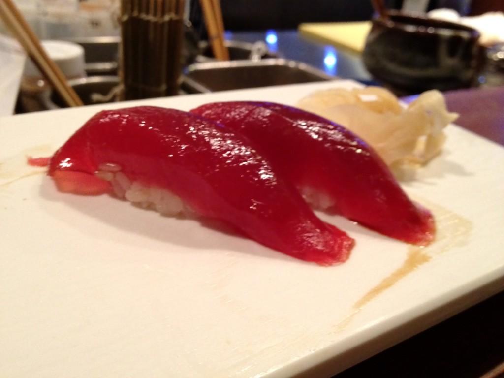 Honmaguro (Bluefin Tuna) at Shunji (© 2012 The Offalo)