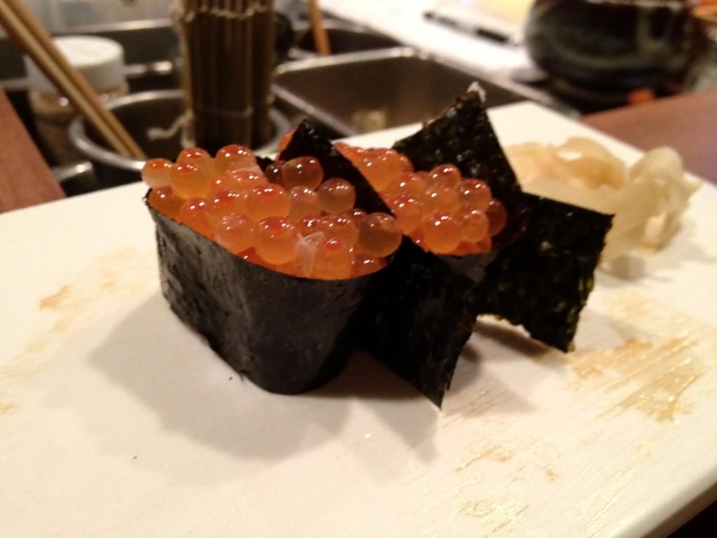 Ikura (Salmon Roe) at Shunji (© 2012 The Offalo)