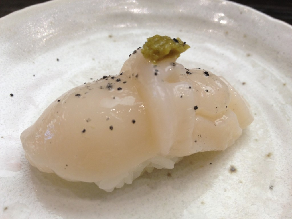 Hotate (Scallop) at Yojisan (© 2012 The Offalo)