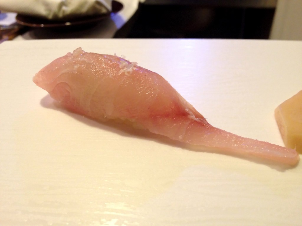 Aka Isaki (Red Grouper) Nigiri (© 2013 The Offalo)