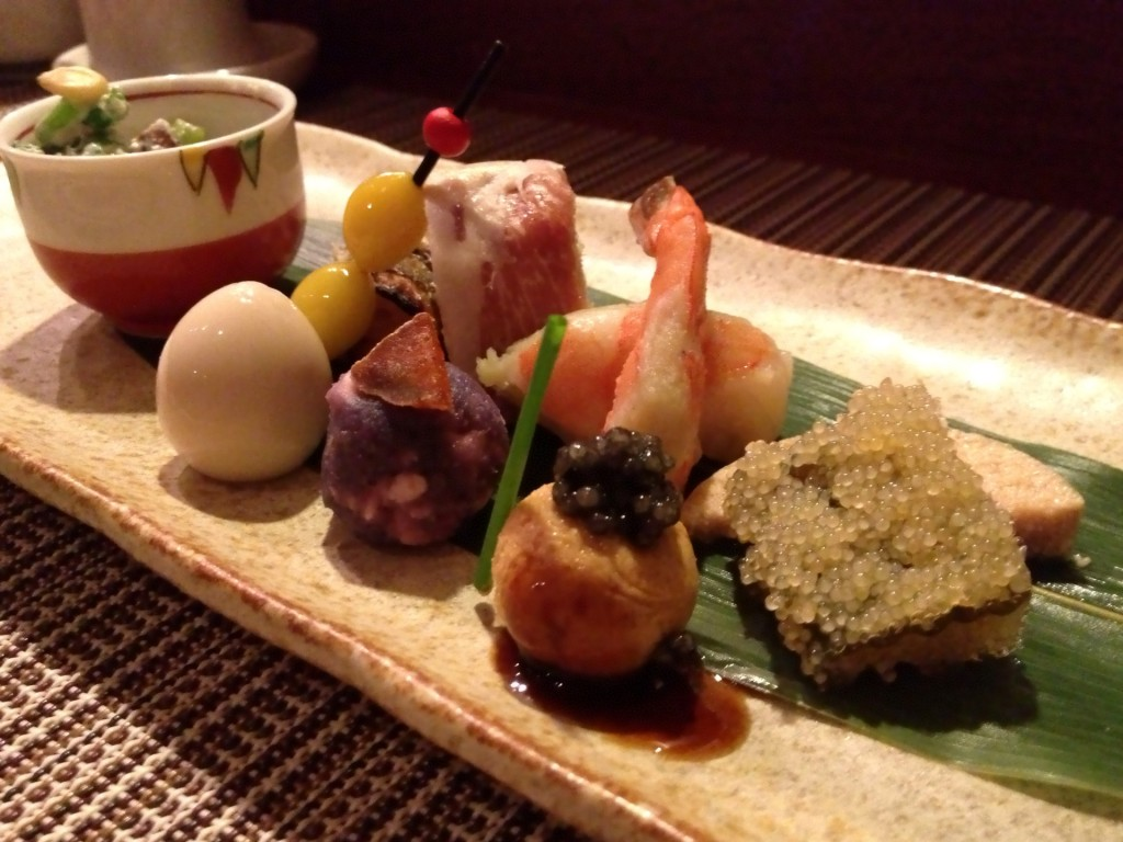 Zensai/Hassun Appetizer Plate (© 2013 The Offalo)