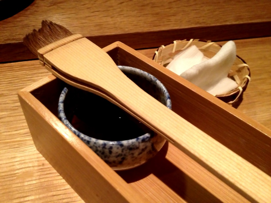 Shoyu (Soy Sauce) and Brush @ Sushi Taro (© 2013 The Offalo)