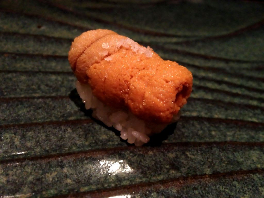 Maine Uni (Sea Urchin) @ Sushi Taro (© 2013 The Offalo)