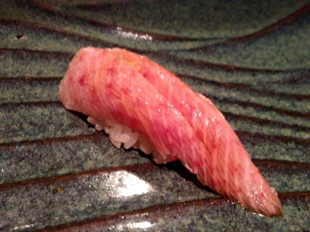 Tennen Buri (Premium Wild Yellowtail) @ Sushi Taro (© 2013 The Offalo)