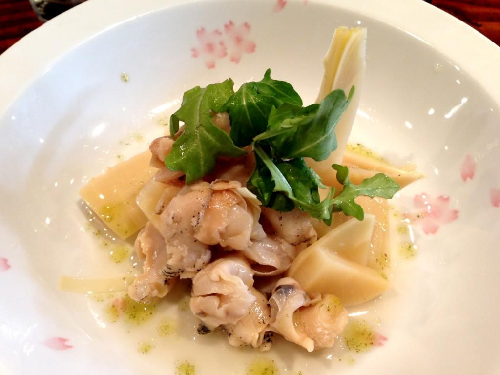 Baigai (Snail) and Takenoko (Bamboo Shoots) Salad (@ Kiriko (© 2013 The Offalo)