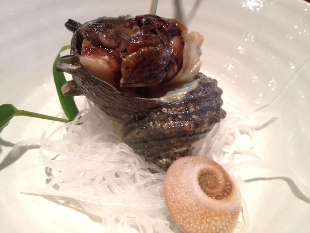 Sazae (Turban Shell Conch) @ Kiriko (© 2013 The Offalo)