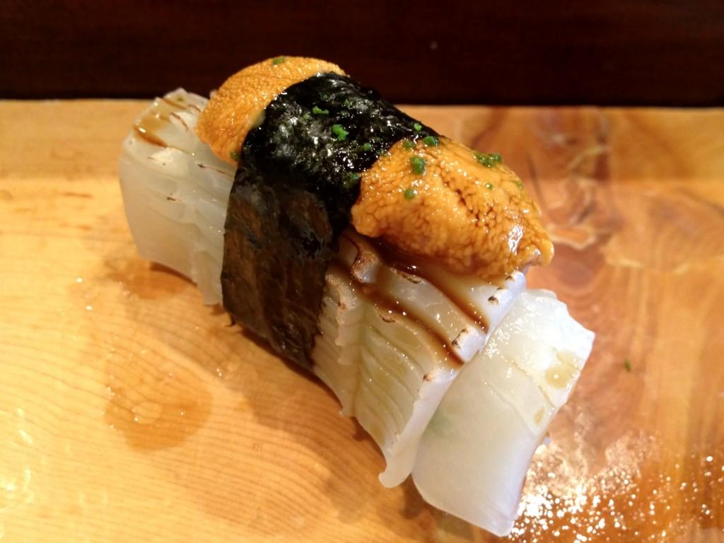 Uni/Ika (Sea Urchin/Squid) @ Kiriko (© 2013 The Offalo)