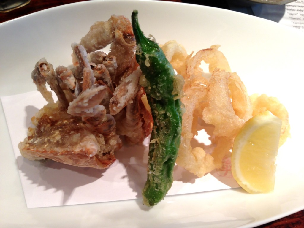 Live Maryland Soft-Shell Crab Tempura @ Kiriko (© 2013 The Offalo)