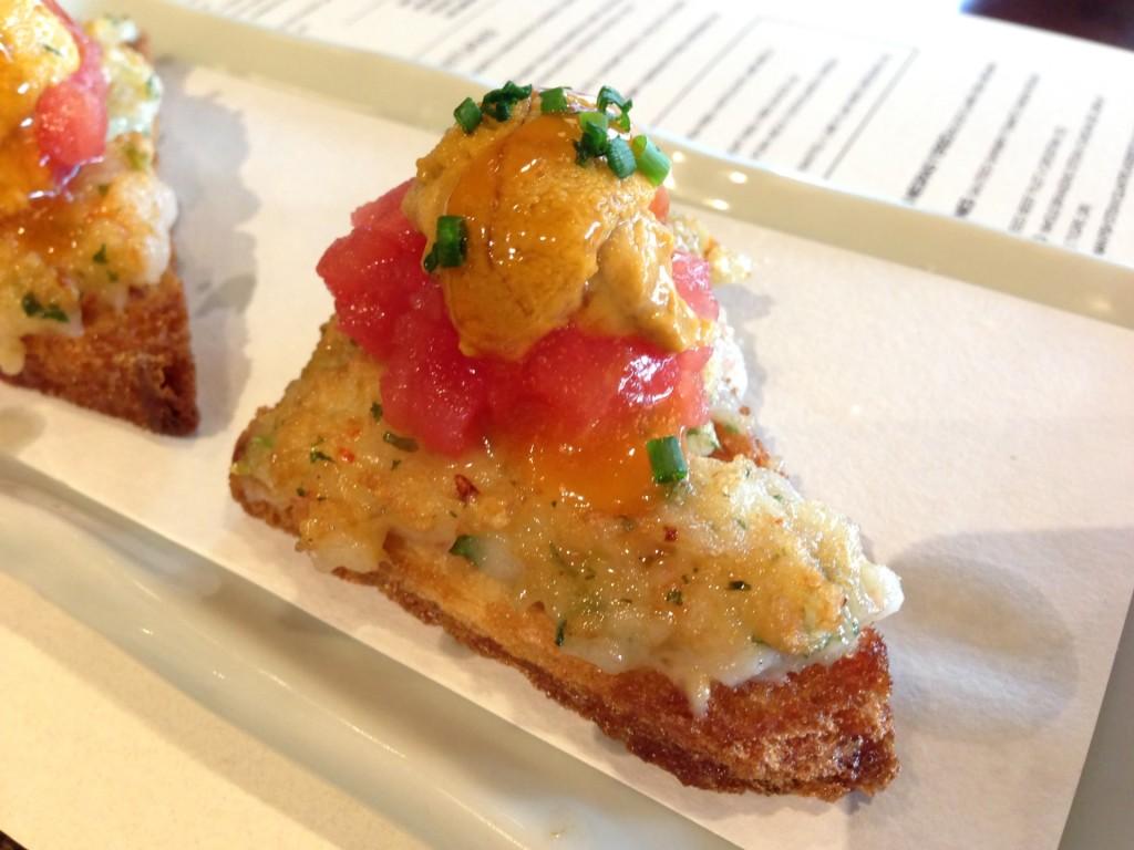 Uni Shrimp Toast @ Paiche (© 2013 The Offalo)