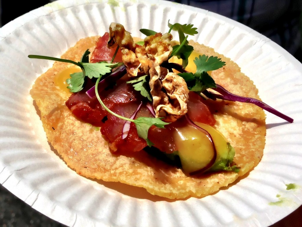 George's at the Cove's Cured Snapper Taco (© 2013 The Offalo)