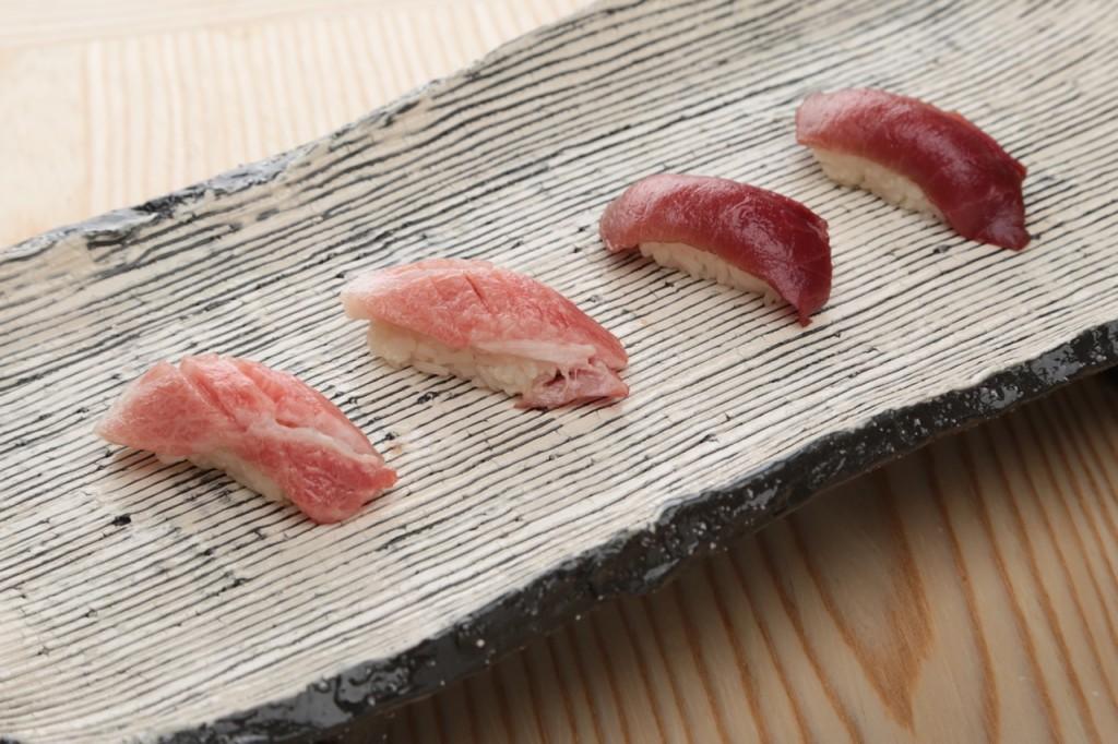 Tuna Nigiri at Sushi Tsujita